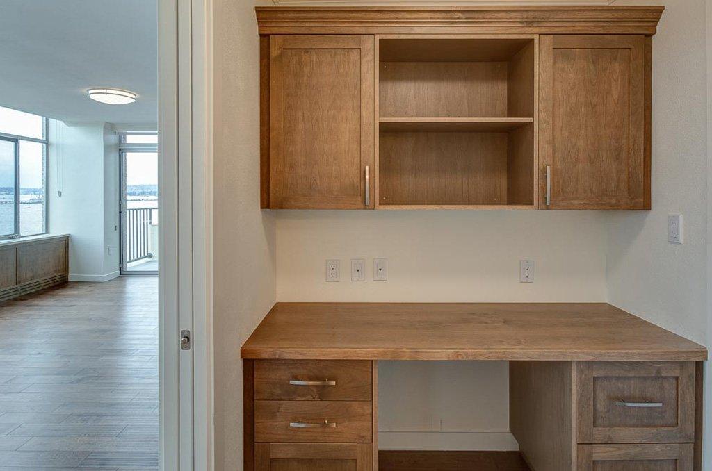 Custom casework design, writing desk
