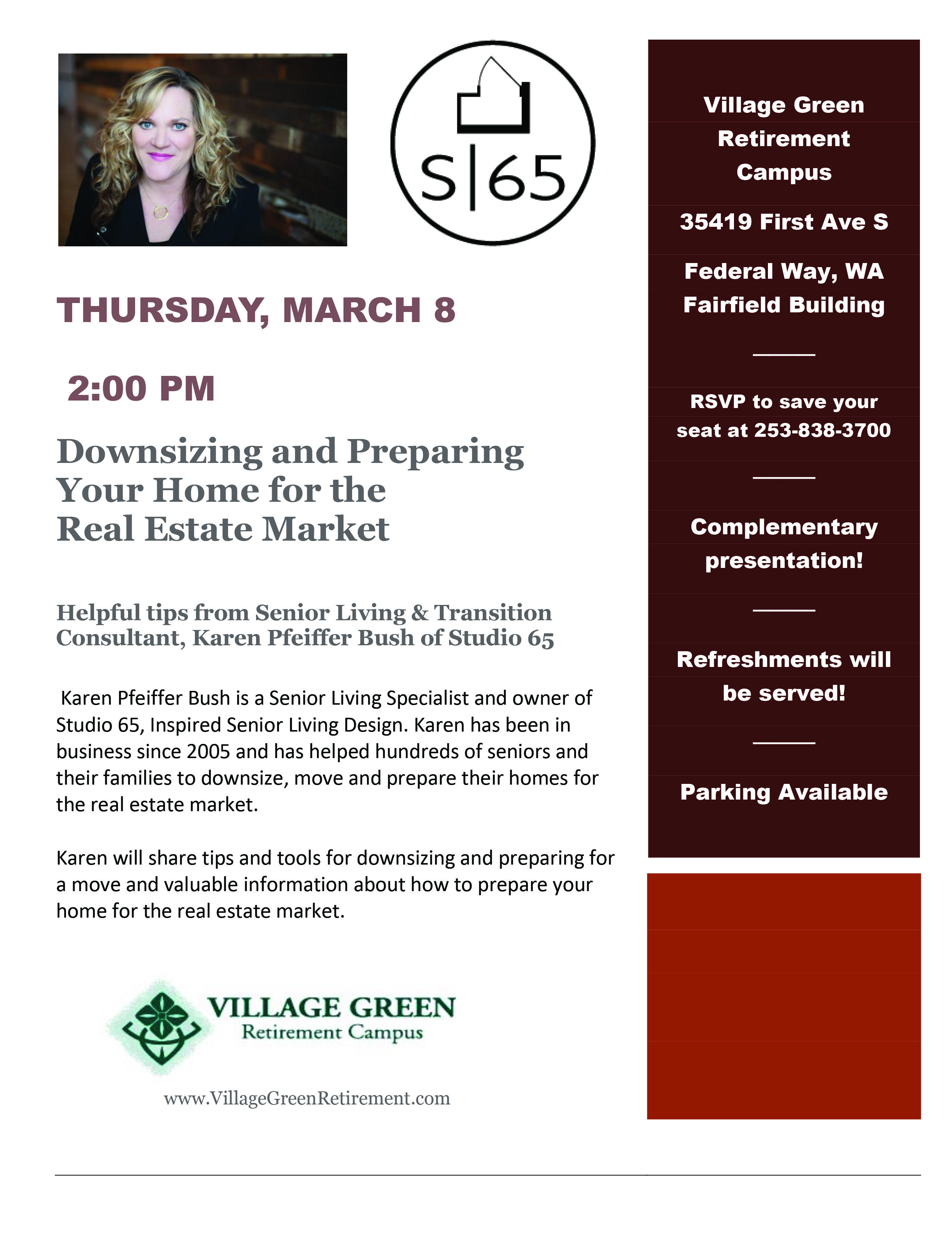 Downsizing Flyer announcement