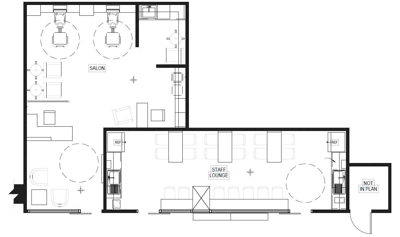 Hearthstone Salon and Staff Lounge Concept Floor Plan