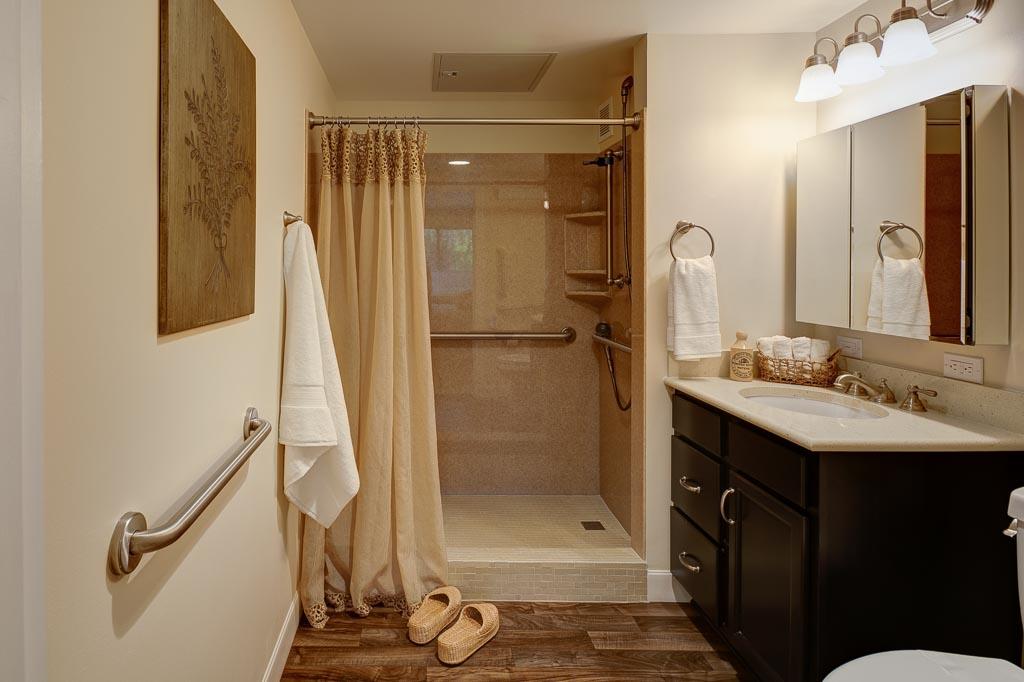 Judson Park IL Apartments bathroom stage