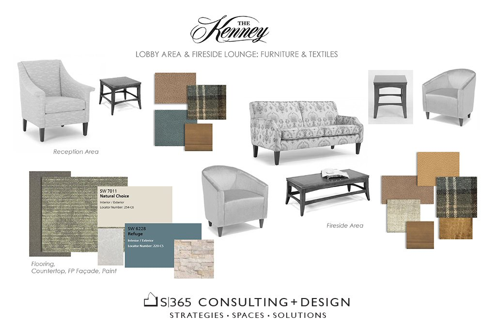 Kenny Lobby area furniture and textiles